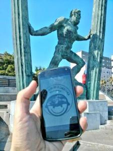 Zafarranchito con Hércules en Ceuta