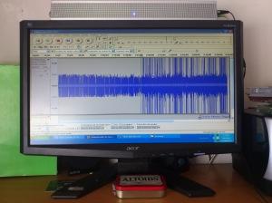 Desbrozando la grabación para insertar los clips de audio