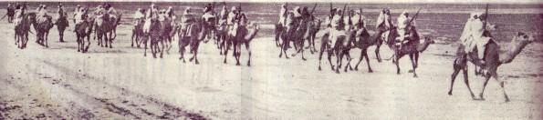 Meharistas italianos en Libia, 1934