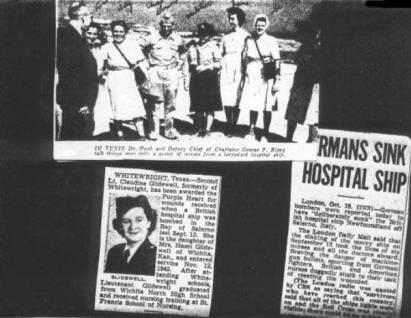 Reportes de prensa sobre el ataque alemán contra el buque hospital Newfoundland