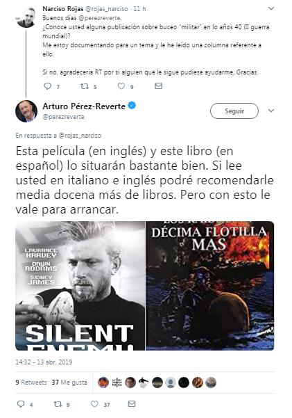 Tuit Pérez Reverte 13ABR19