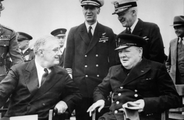 Winston Churchill y Franklin D. Roosevelt