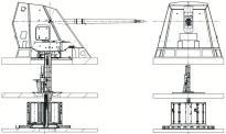 Esquema del cañón principal de 127 mm