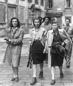 Partisanas italianas en Milán - 1945