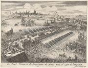 Puente-barrera para asediar Amberes