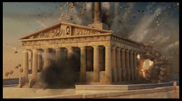 3. Destrucción del Parthenon
