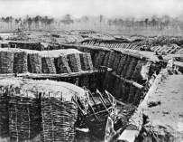 Desarrolladas trincheras confederadas