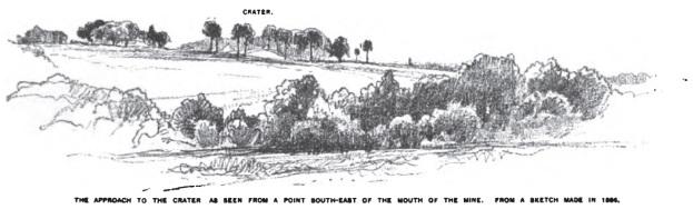 El cráter visto desde la retaguardia unionista