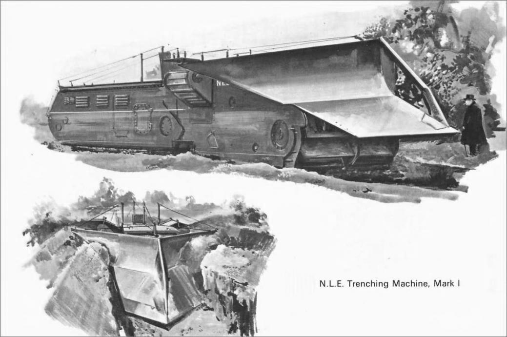 El hacedor de trincheras de Churchill V ByN