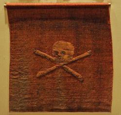 Bandera roja pirata