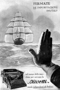 """Cartel que ya en 1926 apelaba al """"compra italiano"""""""