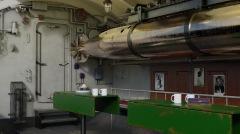 Zona trasera del cuarto de torpedos de proa