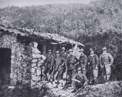 Balbo con compañeros alpinos en la Gran Guerra