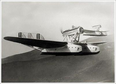 Dos S.55X en el aire