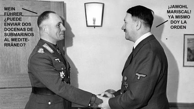 Erwin Rommel con Adolph Hitler