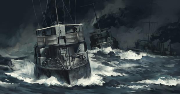 El Oboro entrando en Port Arthur