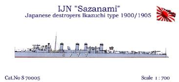 IJN Sazanami - Clase Ikazuchi