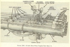 Lanzador quíntuple como el del USS Jhonston