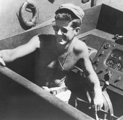 Kennedy a bordo de la PT 109