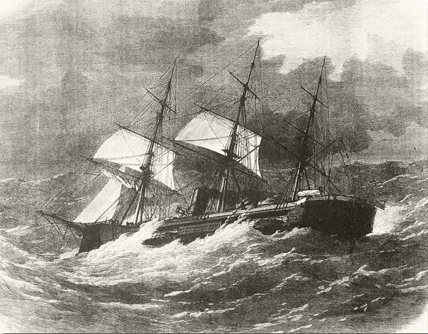 El recién construido HMS Captain se hundió por errores de diseño