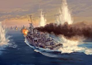 USS Johnston carga contra la flota japonesa