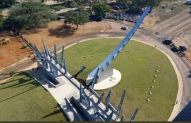 Vista aérea nuevo monumento