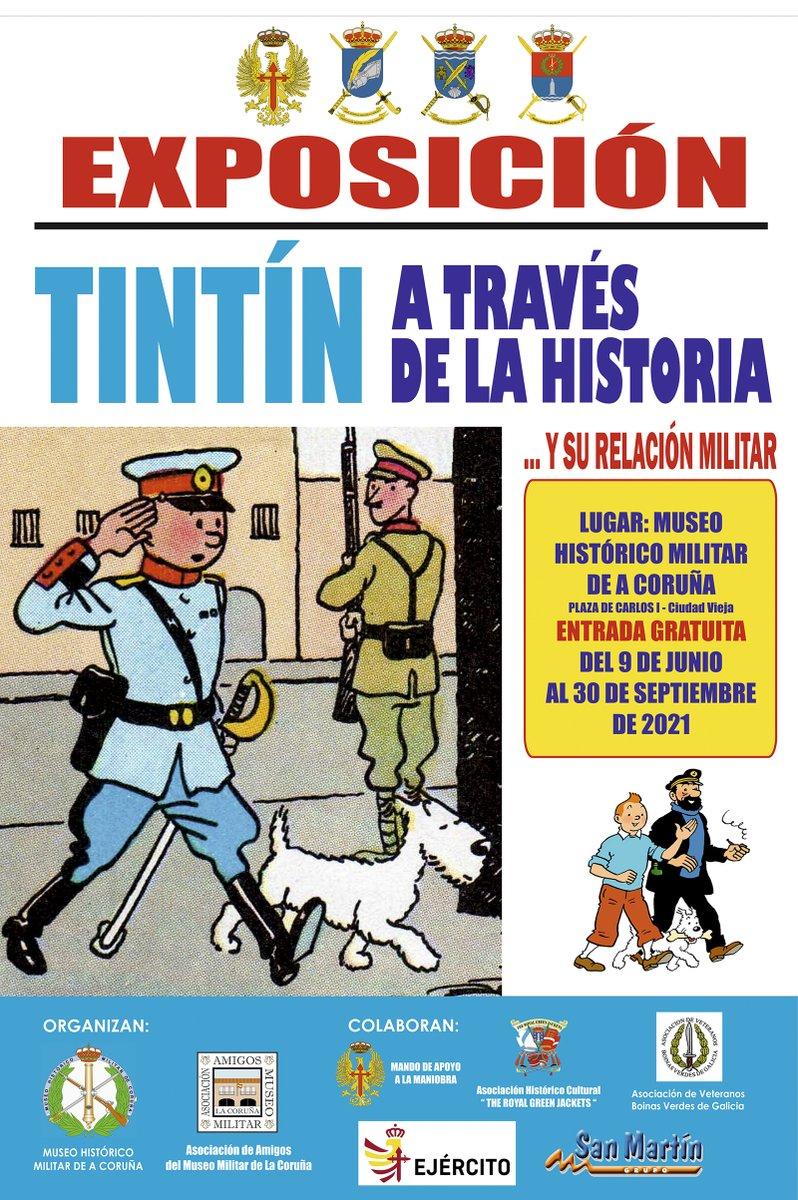 Póster Tin Tin en el MHM de Coruña
