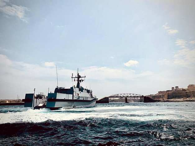 Nave incursora Tullio Tedeschi en Malta