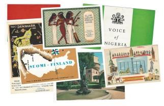 Postales enviadas por radios internacionales