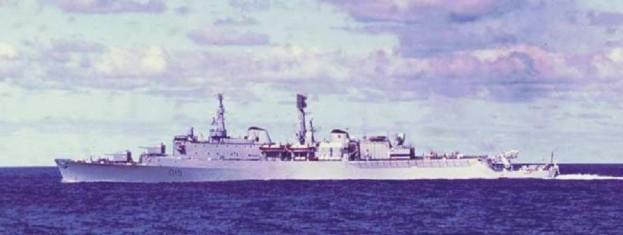 El HMS Glamorgan en 1972