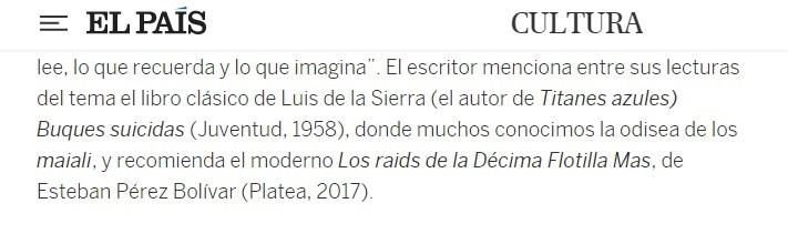 Sobre El Italiano, El País 22SEP21