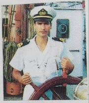 El autor a bordo del velero escuela venezolano