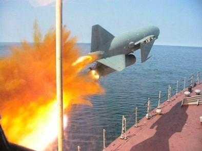 Lancha disparando un P-15 Termita