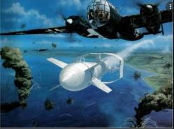 Un Dornier Do-217 lanzando una Fritz X