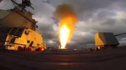 USS Mason dispara un SM-2 en un ejercicio