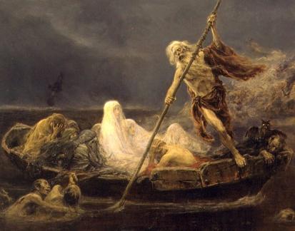 Caronte y su barca